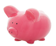银行贪心粉红色 免版税库存图片