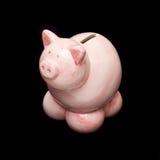 银行贪心粉红色 库存图片