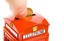 银行配件箱货币电话 库存照片