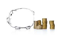 银行配件箱货币贪心样式 免版税图库摄影