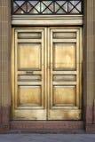 银行黄铜门 免版税图库摄影