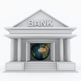 银行3d图标 免版税库存图片
