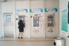 银行ATM 免版税库存照片