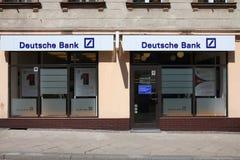 银行deutsche 库存照片