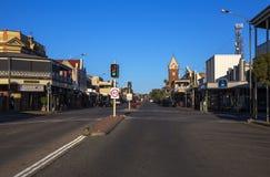 银街道,布洛肯希尔,澳大利亚 免版税库存照片