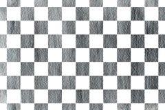 银被绘的方形的样式 免版税库存图片