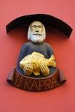 银鱼议院标志,布拉格 库存照片