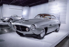 银1953年菲亚特8V超音速吉阿 免版税库存照片