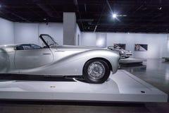 银1951年Delahaye类型235敞蓬车敞篷车 免版税图库摄影