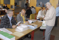 铸件丹麦人表决 免版税库存图片