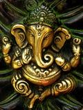铸件ganesha小雕象 免版税库存照片