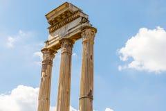 铸工和北河三寺庙在罗马,意大利 免版税库存图片