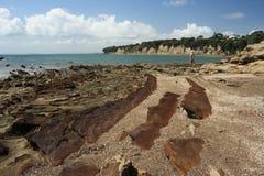 铸工海湾在新西兰 免版税库存照片