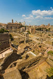 铸工罗马广场和寺庙  免版税库存图片