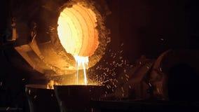 铸造厂和火花 影视素材