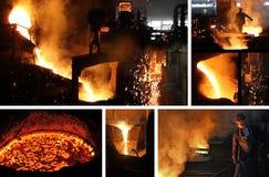 铸造厂坚苦工作 库存图片
