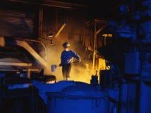 铸造厂工作者 免版税库存照片