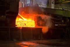铸造厂生产钢 免版税库存照片