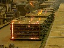 铸造厂,当熔铸- 2时 免版税图库摄影