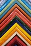 铸造图片的样品五颜六色的框架 木背景详细资料老纹理的视窗 库存照片