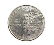 铸造在美元四分之一 免版税图库摄影
