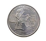 铸造在美元四分之一 免版税库存照片