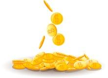 铸造大货币堆向量 免版税库存图片