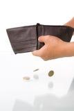 铸造少量左钱包 库存图片