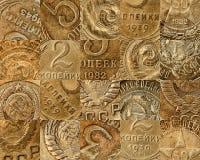 铸造拼贴画老苏维埃 免版税库存图片