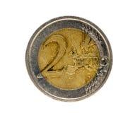 铸造欧元二 免版税图库摄影