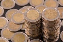 铸造欧元 库存图片
