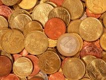 铸造欧元 库存照片