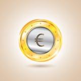 铸造欧洲货币 也corel凹道例证向量 免版税图库摄影