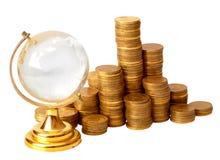 铸造水晶地球金子 免版税库存照片