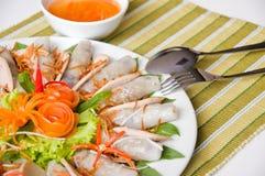 铸造的猪肉卷春天越南语 免版税库存照片