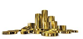 铸造的金堆 库存例证