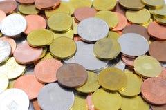 铸造罗马尼亚语的列伊 免版税库存照片