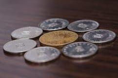 铸造罗马尼亚语 货币 货币 免版税库存照片