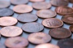 铸造罗马尼亚语 货币 免版税库存照片