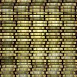 铸造美元欧元金子 铸造堆无缝的纹理-在专栏的硬币 免版税图库摄影