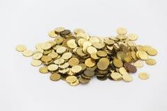 铸造美元欧元金子 免版税库存图片