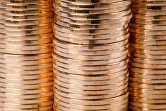铸造美元欧元金子 免版税图库摄影