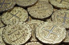 铸造美元欧元金子 库存照片