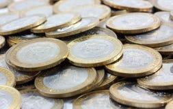 铸造货币俄语 免版税库存照片