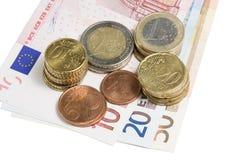 铸造货币 免版税库存图片
