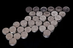 铸造鼠标指针形状 免版税库存照片