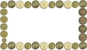 铸造货币框架 免版税图库摄影