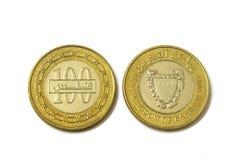 铸造货币被隔绝的巴林 免版税库存照片