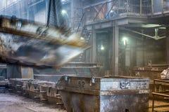 铸件铁合金工厂 免版税库存图片