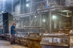 铸件铁合金工厂 免版税图库摄影